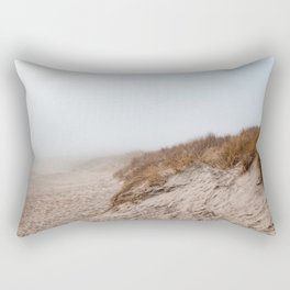 Photo of National Park the Slufter covered in fog II | A journey around Wadden Island Texel Rectangular Pillow