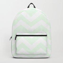Honeydew - heavenly color - Zigzag Chevron Pattern Backpack