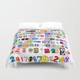 Colorful and Fun Depiction of Pi Calculated Duvet Cover