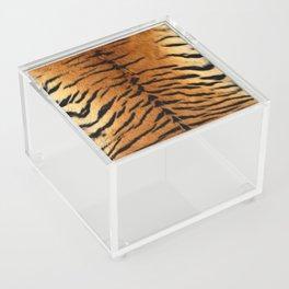 Faux Siberian Tiger Skin Design Acrylic Box