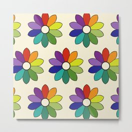 Flower pattern based on James Ward's Chromatic Circle (enhanced) Metal Print