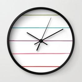 Horizontal Rainbow Stripes Wall Clock