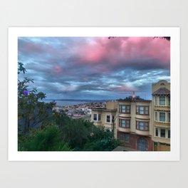 San Francisco - Pink Skies Art Print