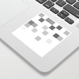 Gray Scale In Pixels Sticker