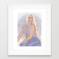 versace Framed Art Prints featuring Versace Queen by AdamAether