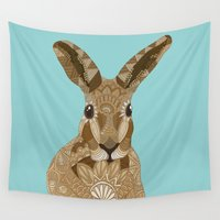 hare Wall Tapestries featuring Happy Hare by ArtLovePassion