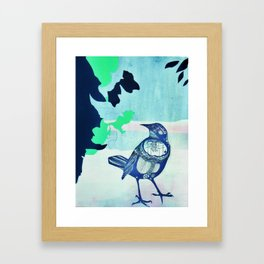 Siberian Sparrow Framed Art Print