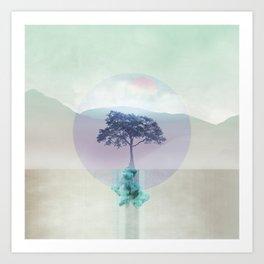 Lone Tree love 01 Art Print
