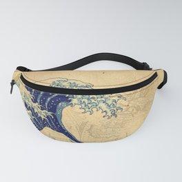 Hokusai parchment Fanny Pack