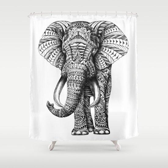 Ornate Elephant Shower Curtain