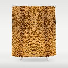 Brown Beige Leopard Animal Print Shower Curtain