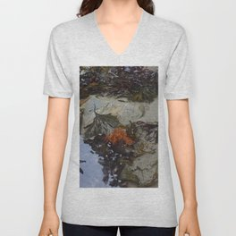 Collection of Seaweed in a Shallow Rockpool Unisex V-Neck