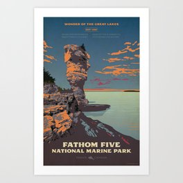 Fathom Five National Park Poster (Flowerpot Island) Art Print