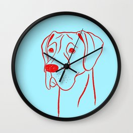 Great Dane (Cyan and Red) Wall Clock