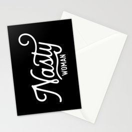 Nasty Woman (white text) Stationery Cards