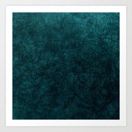 Teal Blue Velvet Texture Kunstdrucke