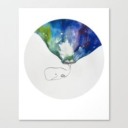 A whale and a book Canvas Print