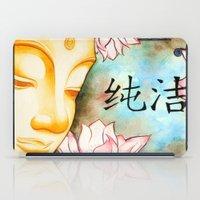 buddah iPad Cases featuring Buddah (Purity) by JackiesGamingArt