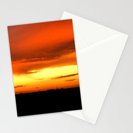 Sunset Over The Fields Stationery Cards