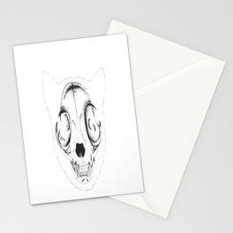 Skull Cat Stationery Cards