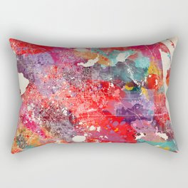 Orlando map Florida painting 2 Rectangular Pillow