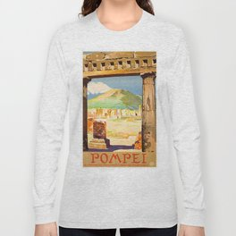 Vintage Pompei Italy Travel Long Sleeve T-shirt