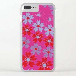 Lovely flowers Clear iPhone Case