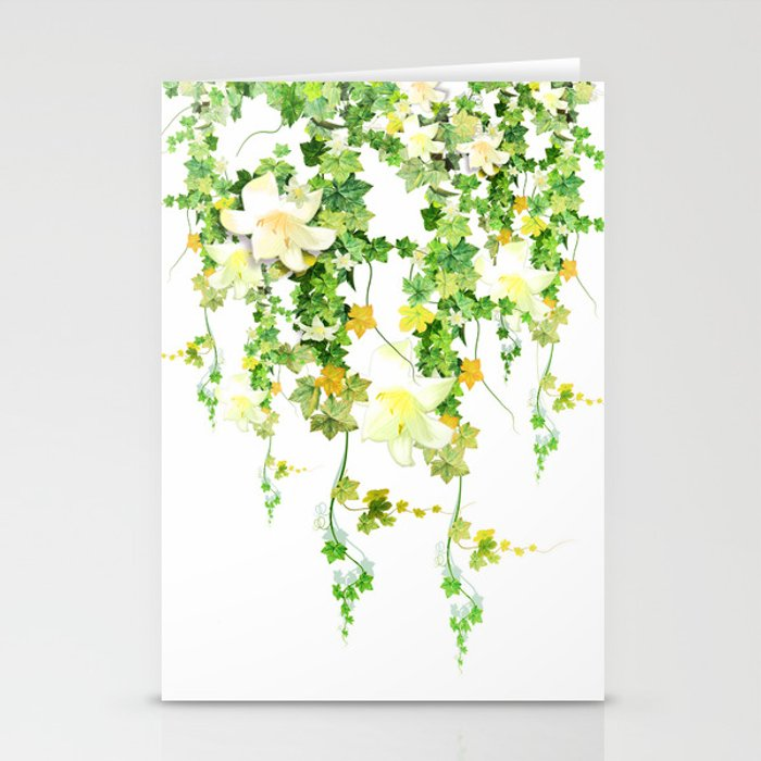 Watercolor Ivy Stationery Cards