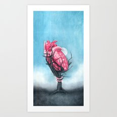 Heart's Apart Art Print
