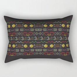 Cat Text Emoji Christmas Sweater Rectangular Pillow