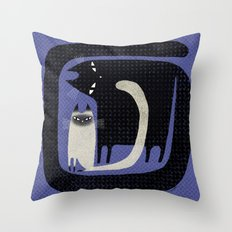 CONTRAST CATS Throw Pillow
