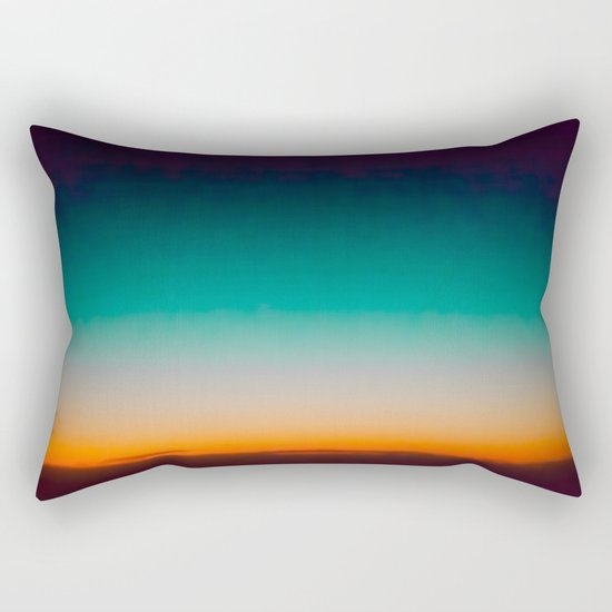 Blue and Yellow Magic Dawn in the Sky Rectangular Pillow