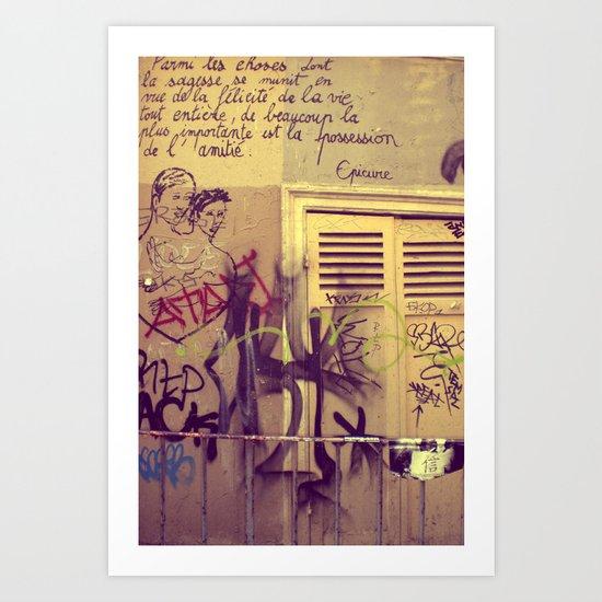 French Graffiti, Paris-2 Art Print