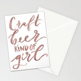 Craft Beer Kind of Girl (rose gold) Stationery Cards