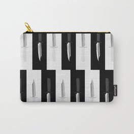 Double Dark & White Knives Carry-All Pouch