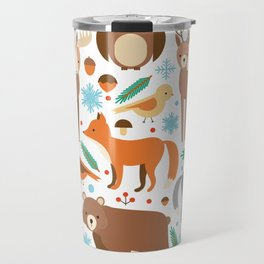 Cartoon Cute Animals Travel Mug