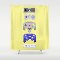 nintendo Shower Curtains featuring Nintendo by 8BOMB