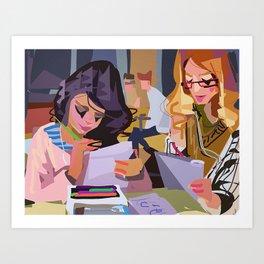 Abstract Ladies Art Print