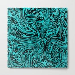 Marble pattern sea wave Metal Print