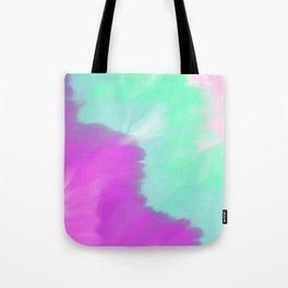 Colorful magenta pink lilac turquoise watercolor ikat Tote Bag