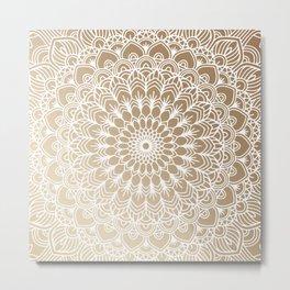 Gold Mandala 19 Metal Print