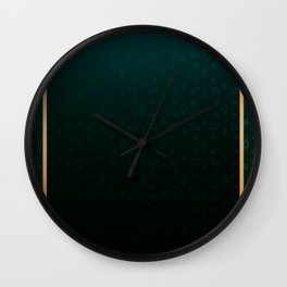 Emerald and Gold Accents Wall Clock