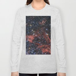 Death of a Star - Red Wispy Remains of Giant Supernova Long Sleeve T-shirt