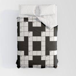 Cool Crossword Pattern Comforters
