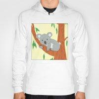 koala Hoodies featuring Koala by Claire Lordon