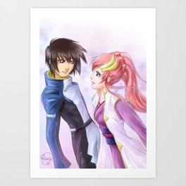 Kira & Lacus - Gundam SEED Art Print