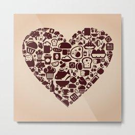 Heart food Metal Print