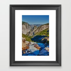 Yosemite ontop Nevada Falls, Grizzly Peak Framed Art Print