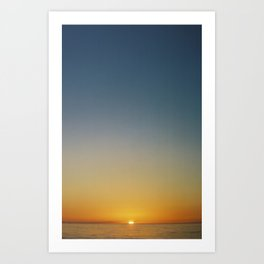 Ocean Sunrise I Art Print