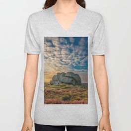 Sunset by Hitching Stone Unisex V-Neck